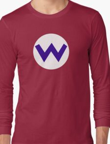 Super Mario Wario Icon Long Sleeve T-Shirt