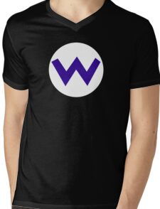 Super Mario Wario Icon Mens V-Neck T-Shirt