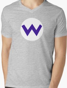 Super Mario Wario Icon Mens V-Neck T-Shirt