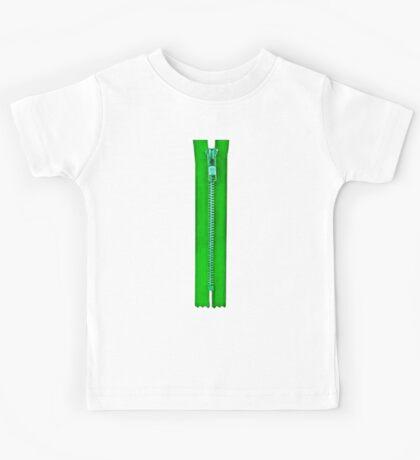 Green zip Kids Tee