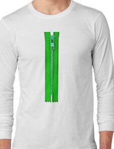 Green zip Long Sleeve T-Shirt