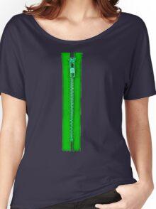 Green zip Women's Relaxed Fit T-Shirt