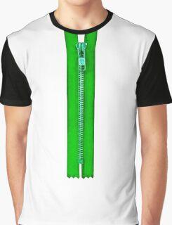 Green zip Graphic T-Shirt
