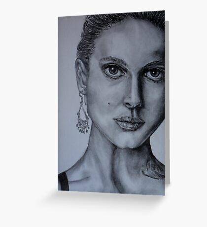 Natalie Portman Greeting Card