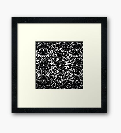Black and White Abstract Pattern Framed Print