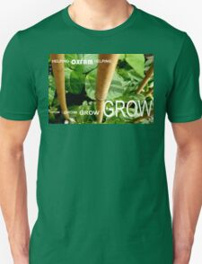 OXFAM GROW comp' with example logo, link to final piece & no logo submitted to comp in notes ! please see both*as plain submit Unisex T-Shirt