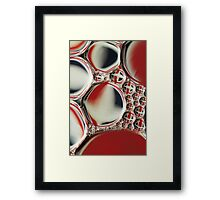Patriotic Oil & Water Abstract Framed Print