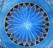 Mandala : Blue Torus  Sticker