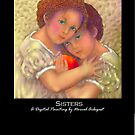 'Sisters', Titled Greeting Card or Small Print by luvapples downunder/ Norval Arbogast