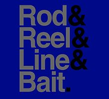 Rod & Reel & Line & Bait. by TASHARTS