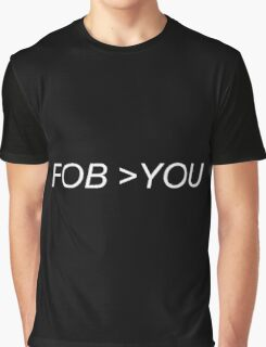 FOB>YOU Black Graphic T-Shirt