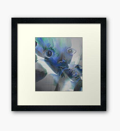 Baby alien II Framed Print