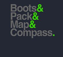 Boots & Pack & Map & Compass. by TASHARTS