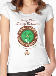 Fairy Bow Archery Exhibition Women's Fitted Scoop T-Shirt