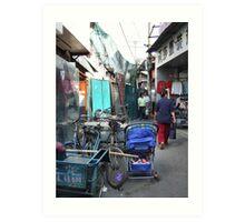 Beijing 2006 - Just hanging on (2) Art Print