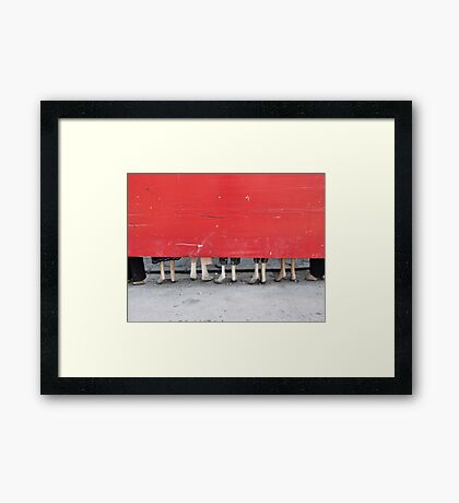 Beijing 2006 - The fashion store Framed Print