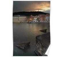 View from Charles Bridge, Prague Poster
