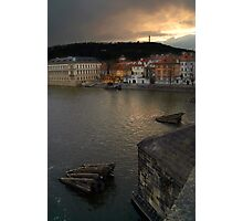 View from Charles Bridge, Prague Photographic Print