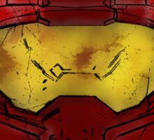 Red Spartan Helmet Sticker