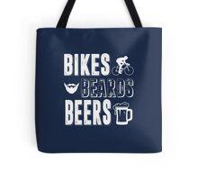 Bikes Beards Beers Tote Bag