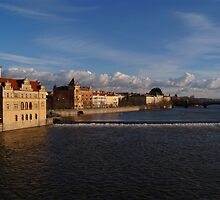 View Upstream from Charles Bridge by SerenaB