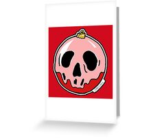 Skull Bauble Greeting Card