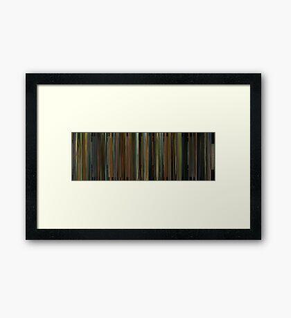 Moviebarcode: Cinema Verite (2011) Framed Print