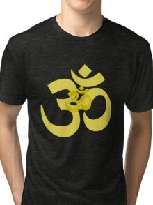 yellow aum Tri-blend T-Shirt