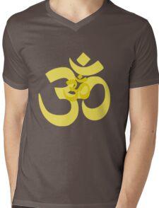 yellow aum Mens V-Neck T-Shirt
