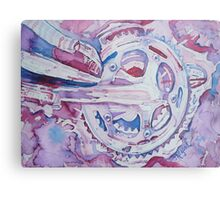 Psychedelically Cranked Metal Print