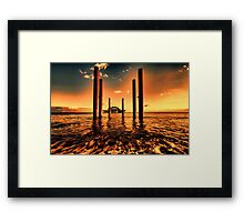 Brighton west Pier sunset Framed Print
