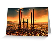 Brighton west Pier sunset Greeting Card