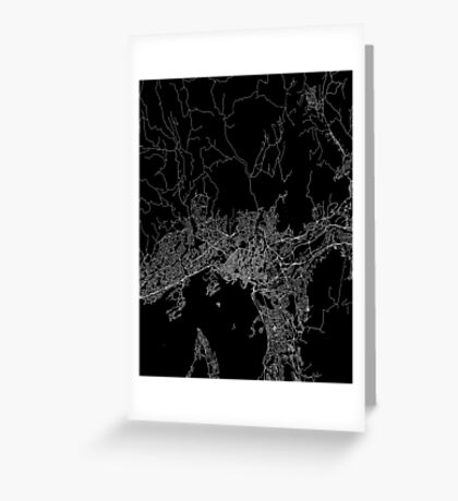 Oslo map norway Greeting Card