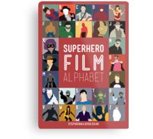 Superhero Film Alphabet Metal Print