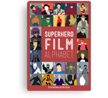 Superhero Film Alphabet Canvas Print