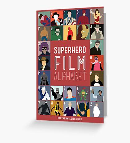 Superhero Film Alphabet Greeting Card