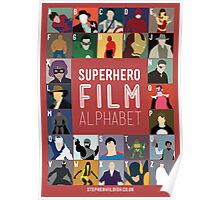 Superhero Film Alphabet Poster