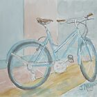 Blue Bike on Grid by Jeanne Allgood