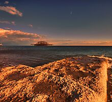 Brightons West Pier by Dean Messenger