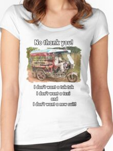 No thank you! Women's Fitted Scoop T-Shirt
