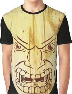 Wooden Face Graphic T-Shirt