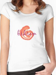 red hot bikram Women's Fitted Scoop T-Shirt
