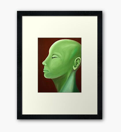 Abstract Lady in Green Framed Print