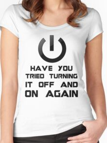 Off and on again Women's Fitted Scoop T-Shirt