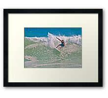 *** HANGING TEN*** Framed Print