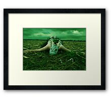 Resting between Heaven and Hell Framed Print