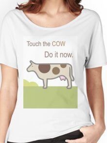 Touch the Cow. Women's Relaxed Fit T-Shirt