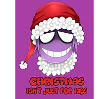Purple guy - Christmas isn't just for kids Photographic Print