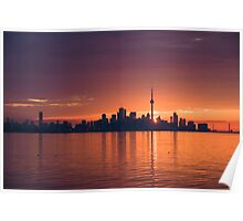 Bright and Orange Toronto Sunrise Poster