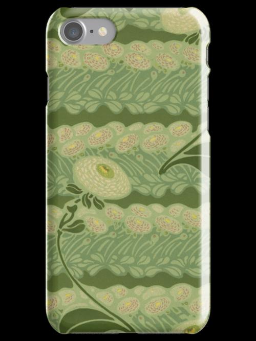 iPhone Case Nouveau Daisies by Melanie  Dooley